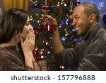 boyfriend giving girlfriend... | Shutterstock . vector #157796888