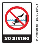 no diving board.no diving sign... | Shutterstock .eps vector #1578015475