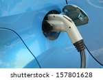 electric car being charged.... | Shutterstock . vector #157801628