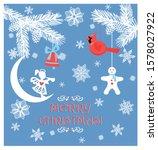 paper christmas greeting pastel ... | Shutterstock .eps vector #1578027922