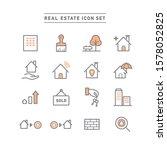 real estate line icon set | Shutterstock .eps vector #1578052825