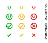 set of flat icons about mood... | Shutterstock .eps vector #1578095728