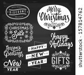 christmas and new year... | Shutterstock .eps vector #157814762