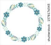 vector floral frame   wreath... | Shutterstock .eps vector #1578176545