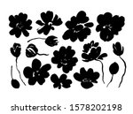 spring flowers hand drawn... | Shutterstock .eps vector #1578202198