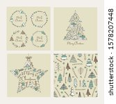 collection of christmast and... | Shutterstock .eps vector #1578207448