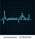 heartbeat make patient word and ... | Shutterstock .eps vector #157823492