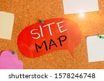 handwriting text site map....