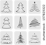 christmas trees silhouettes....