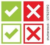 check mark stickers | Shutterstock .eps vector #157825592