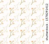 stemmed daisy wildflower motif...   Shutterstock .eps vector #1578291412