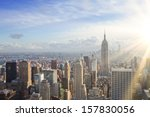 urban skyline at sunset. new... | Shutterstock . vector #157830056