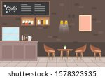 modern cafe coffee shop... | Shutterstock .eps vector #1578323935