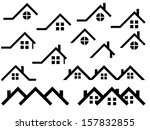 house roof set illustrated on... | Shutterstock .eps vector #157832855
