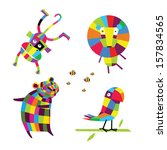 vector illustration. cheerful... | Shutterstock .eps vector #157834565