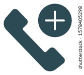 calling  isolated vector icon... | Shutterstock .eps vector #1578405298