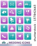 set of white icons for wedding... | Shutterstock .eps vector #157842665