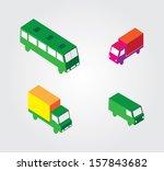 isometric illustration set ... | Shutterstock .eps vector #157843682