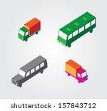 isometric illustration set ... | Shutterstock .eps vector #157843712