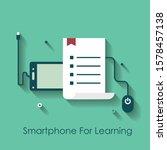 e learning platform and online... | Shutterstock .eps vector #1578457138