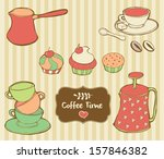 coffee time objects | Shutterstock .eps vector #157846382