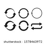 arrows refresh  recycling icon. ...   Shutterstock .eps vector #1578463972
