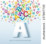 back to school. conceptual... | Shutterstock . vector #157847735