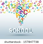 back to school. conceptual...   Shutterstock . vector #157847738
