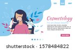 flat landing page for... | Shutterstock .eps vector #1578484822