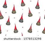 vector  cute gnomes cartoons... | Shutterstock .eps vector #1578513298