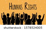group of people back with human ... | Shutterstock .eps vector #1578524005