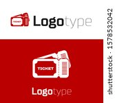 red ticket icon isolated on... | Shutterstock .eps vector #1578532042