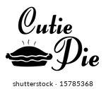 Cutie Pie Vector Graphic