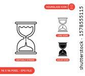 hourglass icons set vector...