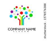 digital logo tree  brain and... | Shutterstock .eps vector #1578576388