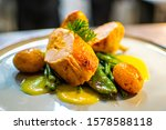 Gourmet Restaurant Dish With...