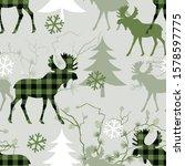 woodland seamless pattern.... | Shutterstock .eps vector #1578597775