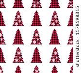 buffalo plaid christmas tree... | Shutterstock .eps vector #1578598315