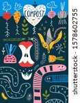 funny cartoon compost concept... | Shutterstock . vector #1578602755
