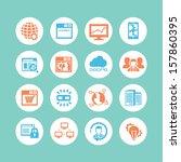 seo   database icon set | Shutterstock .eps vector #157860395
