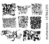 calligraphy lettering text  | Shutterstock . vector #157861292