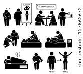 slimming center fat overweight... | Shutterstock . vector #157862672