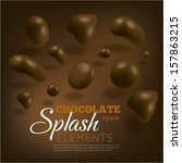 chocolate splash elements on... | Shutterstock .eps vector #157863215
