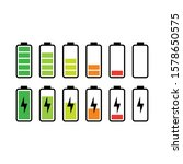 battery icon design set vector...