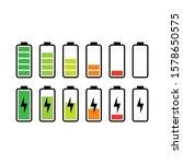 battery icon design set vector...