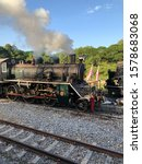 Small photo of Train, Steam engine , Old train.