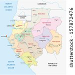 gabon administrative map | Shutterstock .eps vector #157872476