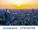 cityscape bangkok city sunset... | Shutterstock . vector #1578763708