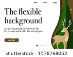 landing page with forest theme