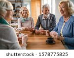 Group of cheerful mature people ...